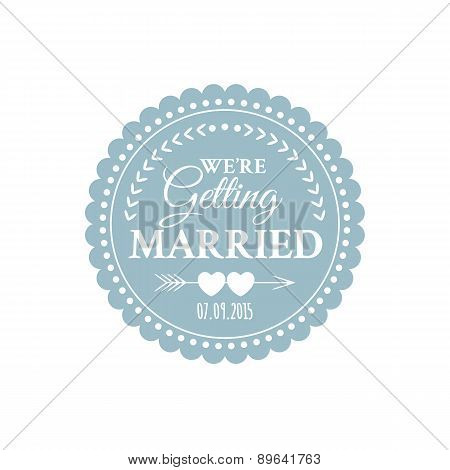 Classic wedding vintage badge