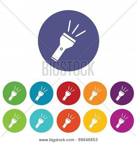 Flashlight icon set