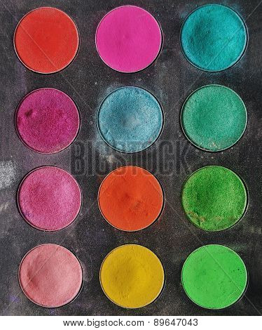 eyeshadow texture color palette background