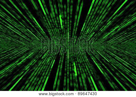 Green Matrix Background With The Green Symbols