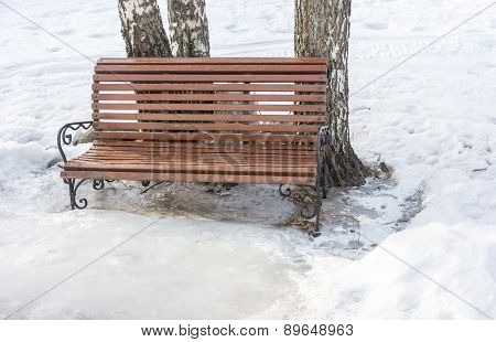 A bench to rest.