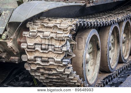 Tank tracks detail.