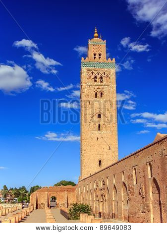 Koutoubia In Marrakesh, Morocco