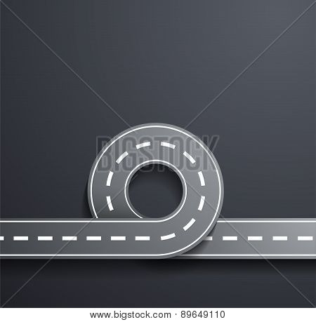 Road On A Gray Background