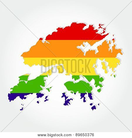 Rainbow-flag-in-contour-of-hong-kong