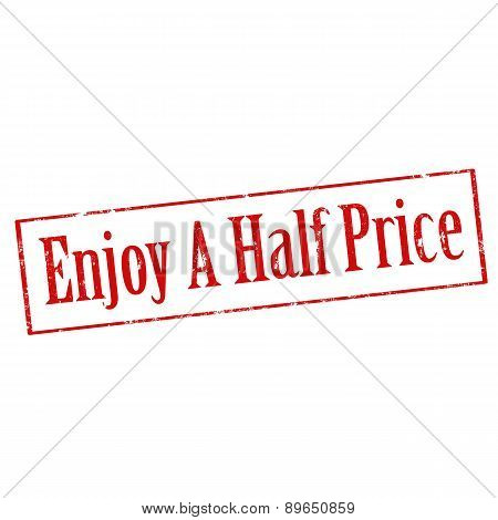 Enjoy A Half Price-stamp