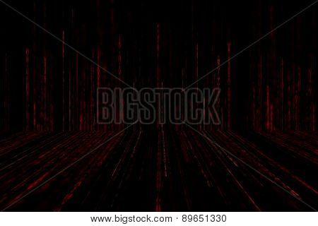 Digital Abstract Background, Red Matrix