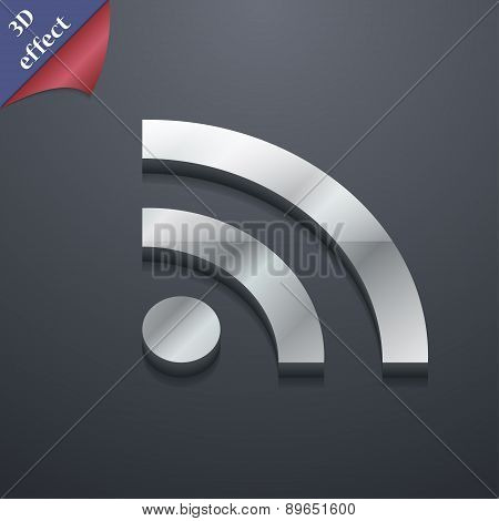 Wifi, Wi-fi, Wireless Network Icon Symbol. 3D Style. Trendy, Modern Design With Space For Your Text