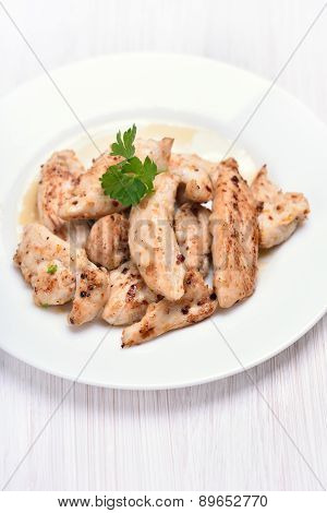 Grilled Chicken Meat Sliced