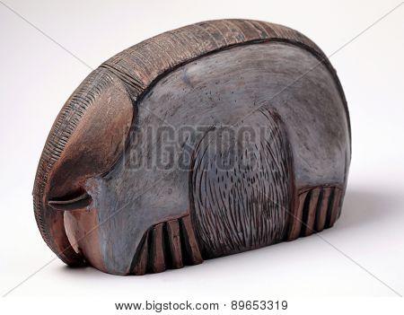 Handcraft Ceramic Elephant Sculpture.