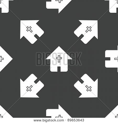 House with cross pattern