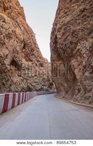 The Gorges Du Dades Valley With Road, Morocco