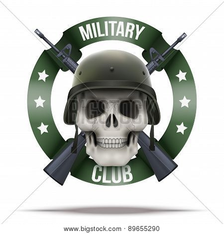 Military club or company badges and labels logo
