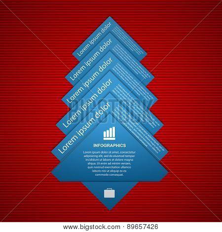 Vector Fir Tree Infographics. Modern Design Template.