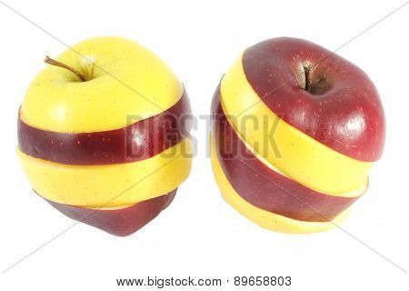 Two mixed apples