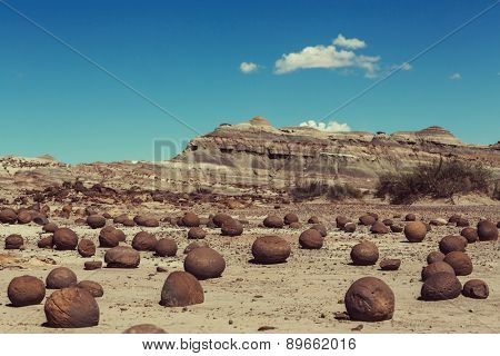 Round stones Ischigualasto National Park, Moon Valley, San Juan, Argentina
