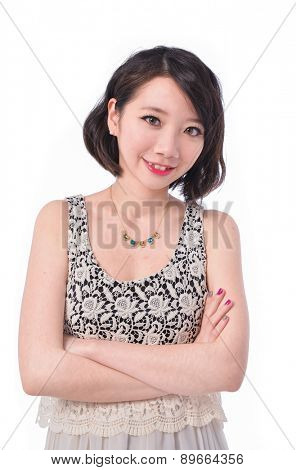 Young lady in gorgeous dress. Fashion photo