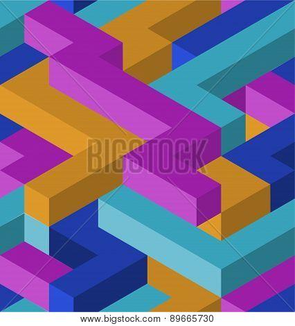 3D shapes pattern