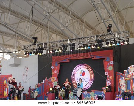 Stage performance at Global Village in Dubai, UAE