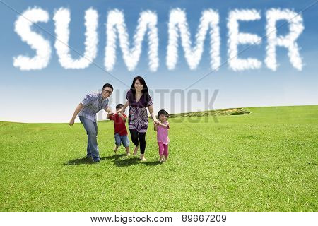 Family Enjoy Vacation At Green Meadow
