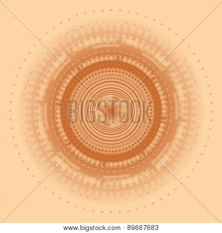Circular abstract cream background made of glossy circle elements