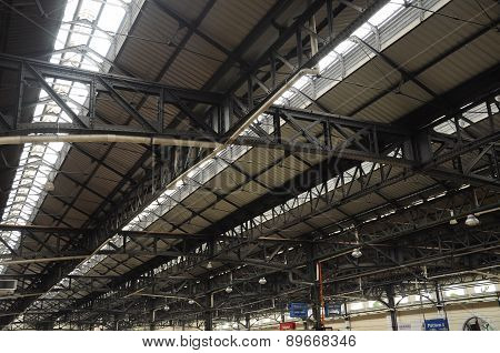 Metal roof structure of Kuala Lumpur Railway Station
