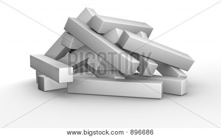 3D Puzzle - ungelöst
