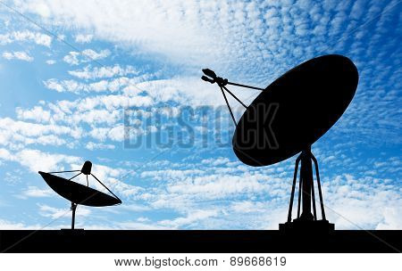 Satellite Shadow Sky Background