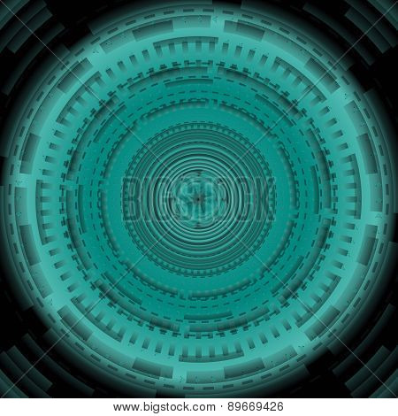 Dark green Abstract technology circle background