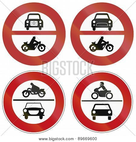 No Motor Vehicle Signs In Germany