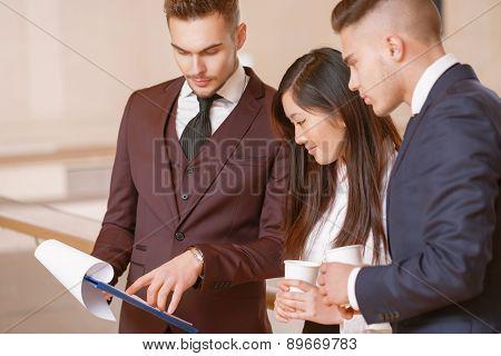Coffee break during the meeting