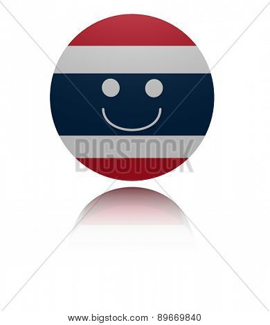 Thai happy icon with reflection illustration