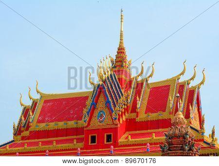 Khmer Temple In Mekong Delta, Vietnam