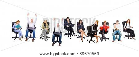 Chairs in Line Isolated Group