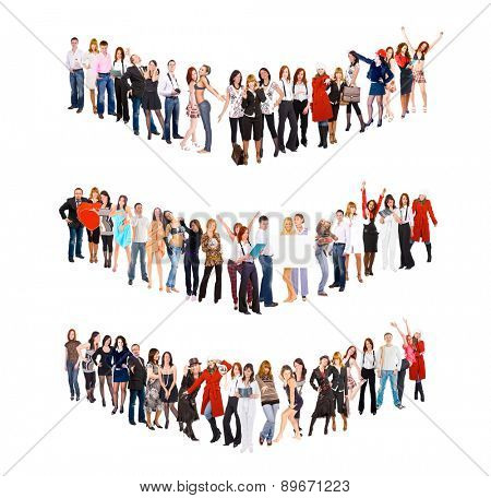 People Diversity Big Group