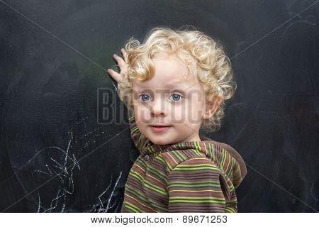 Little  Boyl  At The Old Black School Board