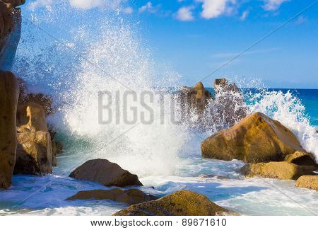 Beach Waves Seascape