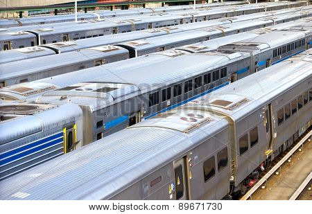 NYC Trains In Hudson Yards