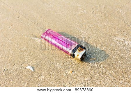 Old Lighters  On The Beach
