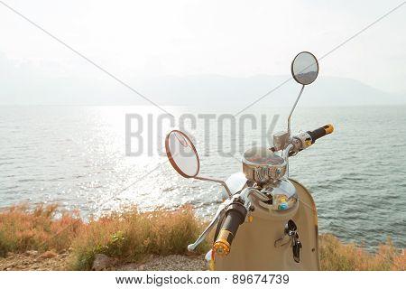 Motorbike Beside The Sea