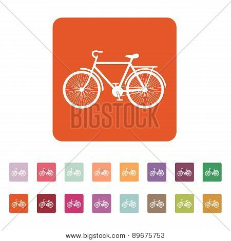 The Bike Icon. Bicycle Symbol. Flat