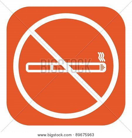 No Smoke Icon. Stop Smoking Symbol. Vector.
