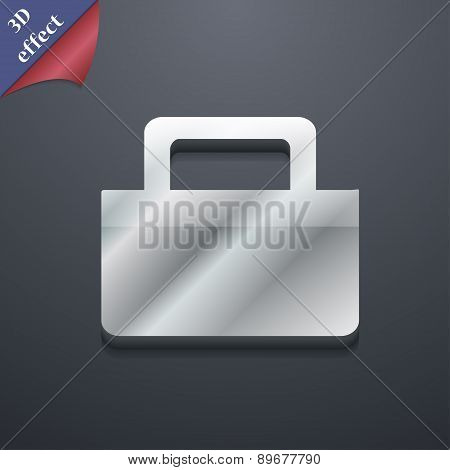 Sale Bag Icon Symbol. 3D Style. Trendy, Modern Design With Space For Your Text Vector