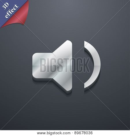 Speaker Volume, Sound Icon Symbol. 3D Style. Trendy, Modern Design With Space For Your Text Vector