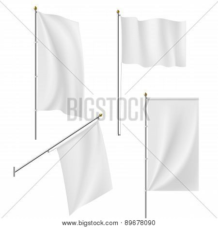 Set Of Flags And Banners
