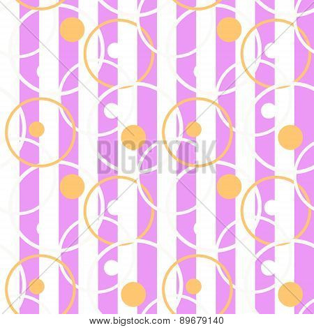 Patchwork Seamless Pattern Circles Ornamental Background