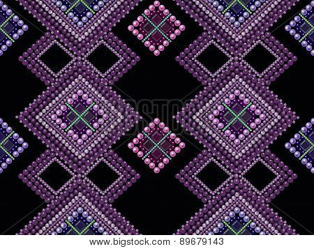 Seamless Pattern Modern Texture Abstract Background With Beads