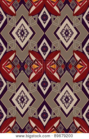 Seamless Abstract Pattern Rhombuses Square Texture Geometric Background
