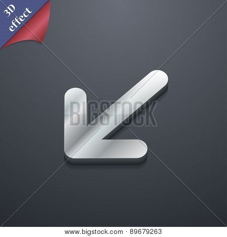 Turn To Full Screenicon Symbol. 3D Style. Trendy, Modern Design With Space For Your Text Vector