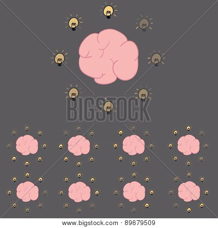 Brain Loading Icon Vector Illustration.